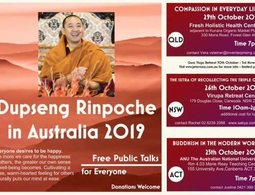 Dupseng Rinpoche in Australia 2019